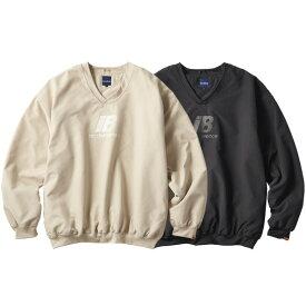 インターブリード ゲームシャツ メンズ レディース 送料無料 INTERBREED Rebellion Game Shirt 長袖 Vネック プルオーバー ストリート ブランド 全2色 M-XXL IB19AW-21
