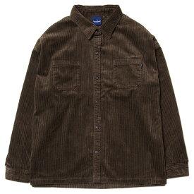 インターブリード シャツ メンズ レディース 送料無料 INTERBREED Wide Range Corduroy Shirt コーデュロイ ワイドシルエット ストリート ブランド ブラウン M-XL IB19AW-29