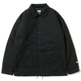 ニューエラ ジャケット メンズ 送料無料 NEW ERA コーチジャケット ダックキャンバス アウター アパレル new era ロゴ 刺繍 newera おしゃれ プレゼント ブラック M-XL 12108284