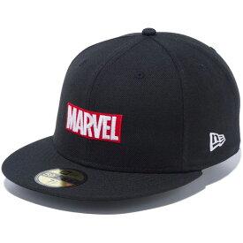 ニューエラ キャップ メンズ レディース 送料無料 NEW ERA 59FIFTY MARVEL マーベル ロゴ 帽子 CAP new era メンズキャップ 刺繍 newera ぼうし メンズ帽子 プレゼント ブラック 12154570