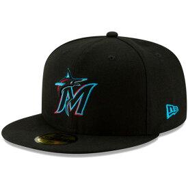 ニューエラ キャップ 送料無料 メンズ レディース NEW ERA 59FIFTY MLB オンフィールド マイアミ・マーリンズ ゲーム ニューエラキャップ newera cap 帽子 おしゃれ 吸汗速乾性 紫外線防御 ブラック/チームカラー 55.8cm〜63.5cm 12026663