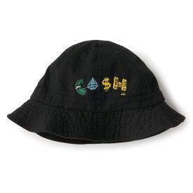 インターブリード ハット メンズ レディース 送料無料 Cleofus × INTERBREED PAYDAY Hat コラボレーション 帽子 ロゴ 刺繍 ブラック M-L IB20SS-19