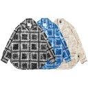 APPLEBUM アップルバム シャツ 送料無料 Bandanna Marble Open Collar L/S Shirt applebum オープンカラー 開襟 ゆったりめ ペイズリー…