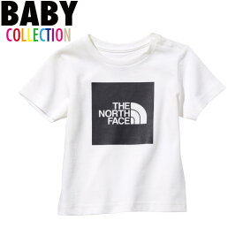 ノースフェイス ベビー tシャツ 送料無料 ベビーショートスリーブカラードビッグロゴティー THE NORTH FACE Baby S/S Colored Big Logo Tee UVケア アウトドア キャンプ カジュアル 男の子 女の子 誕生日 ギフト プレゼント ホワイト ブラック 80-90サイズ NTB82023