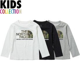 ノースフェイス キッズ tシャツ ロングスリーブカモロゴティー THE NORTH FACE Kids L/S Camo Logo Tee 送料無料 長袖 Tシャツ UVケア 速乾性 アウトドア キャンプ スポーツ 男の子 女の子 誕生日 プレゼント ギフト 全3色 100-150サイズ NTJ32144