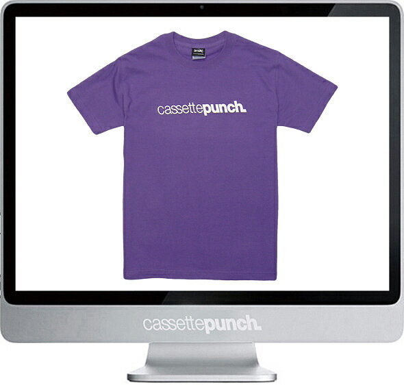 【あす楽対応_東北】【あす楽対応_関東】【CASSETTE PUNCH/カセットパンチ】Logo Tシャツ/パープル