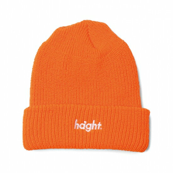 【 HAIGHT ROUND LOGO KNIT CAP ORANGE 】 ( haight ヘイト ニットキャップ KNIT CAP )