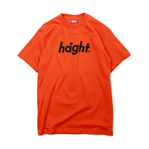 【 HAIGHT Round Logo T-Shirt ORANGE 】 ( haight ヘイト t-shirt Tee Tシャツ オレンジ 電子タバコ VAPE )