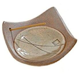信楽焼 香立 松葉 サイズ:奥行9×幅9×高さ3.5cm