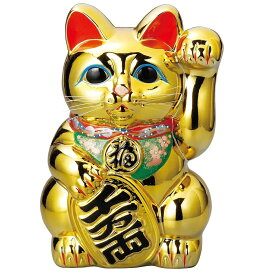 常滑焼 招き猫 梅月 黄金小判猫(左手)10号 高さ:32cm※毎月の生産が少量の為、御注文順の発送になります。1ヶ月〜3カ月要する場合がございます。