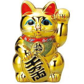 常滑焼 招き猫 梅月 黄金小判猫(左手)8号 高さ:約24cm※毎月の生産が少量の為、御注文順の発送になります。1ヶ月〜3カ月要する場合がございます。