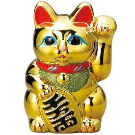常滑焼 招き猫 梅月 黄金小判猫(左手)6号 高さ:18cm※毎月の生産が少量の為、御注文順の発送になります。1ヶ月〜3カ月要する場合がございます。