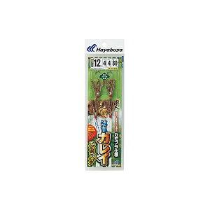 【ネコポス対象品】ハヤブサ 速潮カレイ カモフラ仕様 エラコバグ ハリス4号−針10号