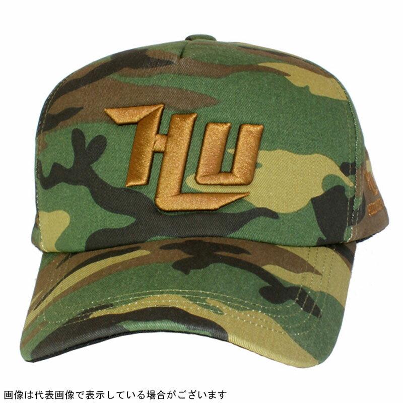 ハイドアップ HU−SIC 3D刺繍ロゴ迷彩キャップ 03カモBR