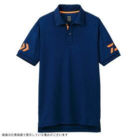 ダイワ DE-7906 半袖ポロシャツ ネイビー×Cトマト 140
