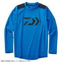 【1月20日限定エントリーで10倍最大45倍】ダイワ DE-60009 UVカット ロングスリーブラッシュガード ブルー XL