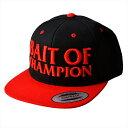 メガバス BAIT OF CHAMPION CAP ブラック/レッド