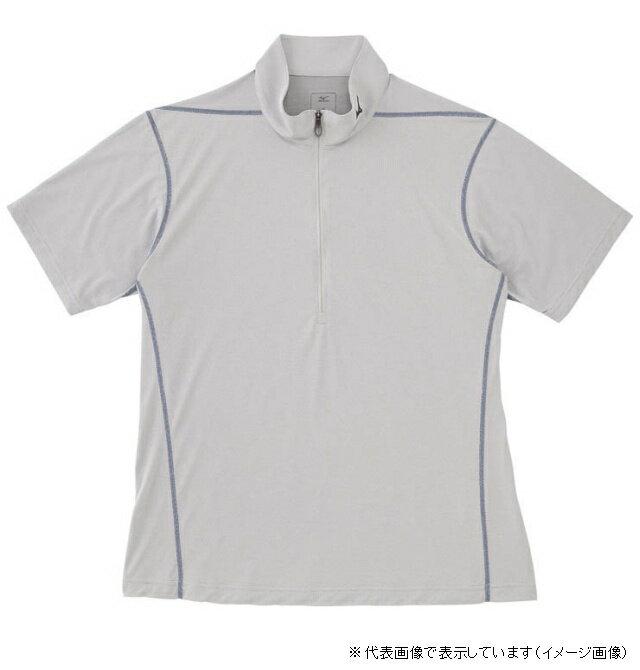 ミズノ DAライトメッシュ 半袖シャツ XL ベイパーシルバー