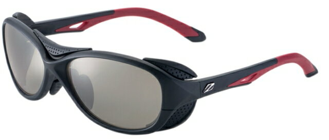 ZEAL OPTICS ジールオプティクス 偏光サングラス BATLER(バトラー) F-1720 ブラックレッド レンズ:トゥルービュー スポーツ/シルバーミラー