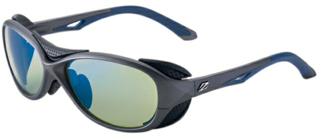 【エントリーでポイント10倍 1月1日(火) AM 9:59まで】ZEAL OPTICS ジールオプティクス 偏光サングラス BATLER(バトラー) F-1724 GMネイビー レンズ:イーズグリーン/ブルーミラー