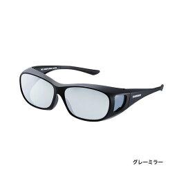 【お買い物マラソン店内全品最大35倍】シマノ UJ−201S 偏光サングラス オーバーグラス ブラック レンズ:グレーミラー