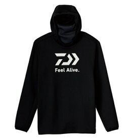 ダイワ ウェア DE-9221 ミドルゲームシャツフーディー ブラック L