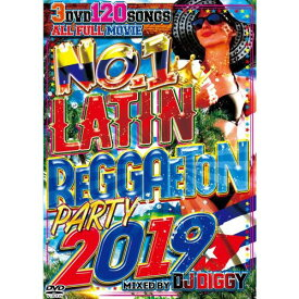 DJ DIGGY / NO.1 LATIN REGGAETON PARTY 2019 (3DVD)