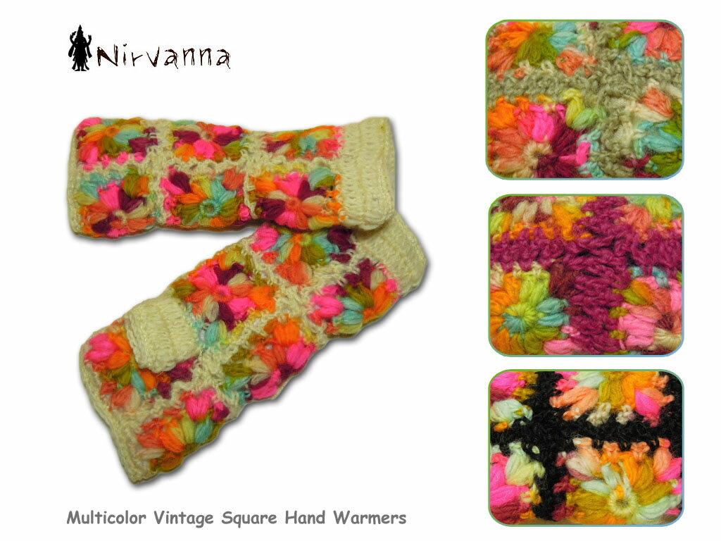 <ネコポス対応>【NIRVANNA Designs】ニルバーナデザイン HAND WARMER ネパール発のマルチ花柄ハンドウォーマー(1)