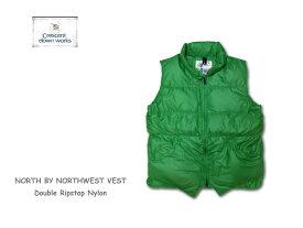 【送料無料】【Crescent Down Works】クレセントダウンワークス 301 DR North by North West Vest グリーン レディースフリーサイズ