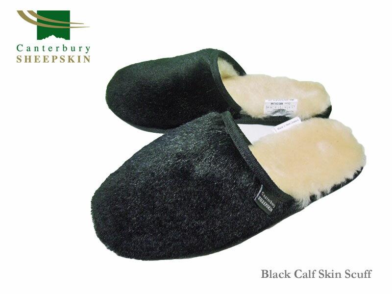 【Canterbury Sheepskin】カンタベリーシープスキンCalf Skin Scuff カーフスキン・スリッパ
