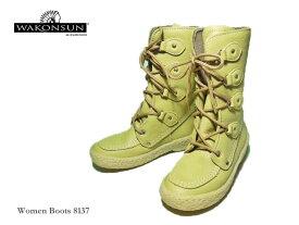 【WAKONSUN】ワコンサン-Women Boots-8137 レザーブーツ