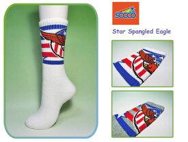 <ネコポス対応>【SOCCO】ソッコ Star Spangled Eagle Crew Socks アメリカンイーグル・クルーソックス
