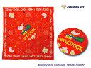 <ネコポス対応>【Sunshine Joy】サンシャインジョイ Woodstock Bandana Peace Flower ウッドストック・バンダナ
