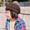 The child brand name of the kids hat knit casquette beret fur plonk cold protection boy woman in the fall and winter: Kids: It is knit casquette #KO a color plonk