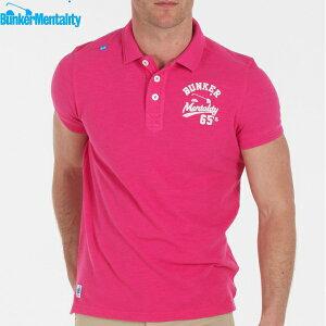【お買い得品】【送料無料】【バンカーメンタリティー】【大きいサイズ・メンズ】ゴルフウエア【XL/XXLサイズ】メンズ半袖ポロシャツ/Bunker Logo Polo(カラー:ピンク)【BunkerMentality】【10P03