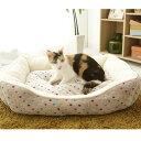 【あす楽】猫 ベッド ペットベッド あったか 角型ペットベッド M ピンク ブラウン 猫ベッド ペット用ベッド 秋冬 冬用…