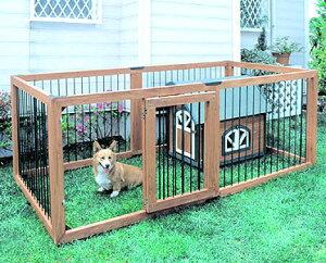 木製ペットサークル 6枚セット KS-906S 送料無料 小型犬 中型犬 サークル 木製 屋外 野外 室外 しつけ 多頭飼い多頭 脱走防止 広々 シンプル 仕切り ハウス ドッグサークル ペットサークル 柵