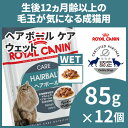 【エントリーでポイント3倍!11日1:59迄】ロイヤルカナン 猫 FHN ウェット ヘアボール ケア 85g×12個セット 毛玉が…
