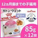 ロイヤルカナン 猫 FHN ウェット キトン ゼリー 85g×12個セット 生後12ヶ月齢までの子猫用 キャットフード ウェット…