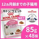 ロイヤルカナン 猫 FHN ウェット キトン グレービー 猫 85g×48個セット 生後12ヶ月齢までの子猫用 キャットフード ウェットフード パウチ プレミアム ROYAL CANIN FHN-WE
