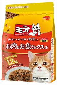 日本ペットフード ミオドライミックス お肉とお魚ミックス味 1.2kg[LP] キャットランド【TC】