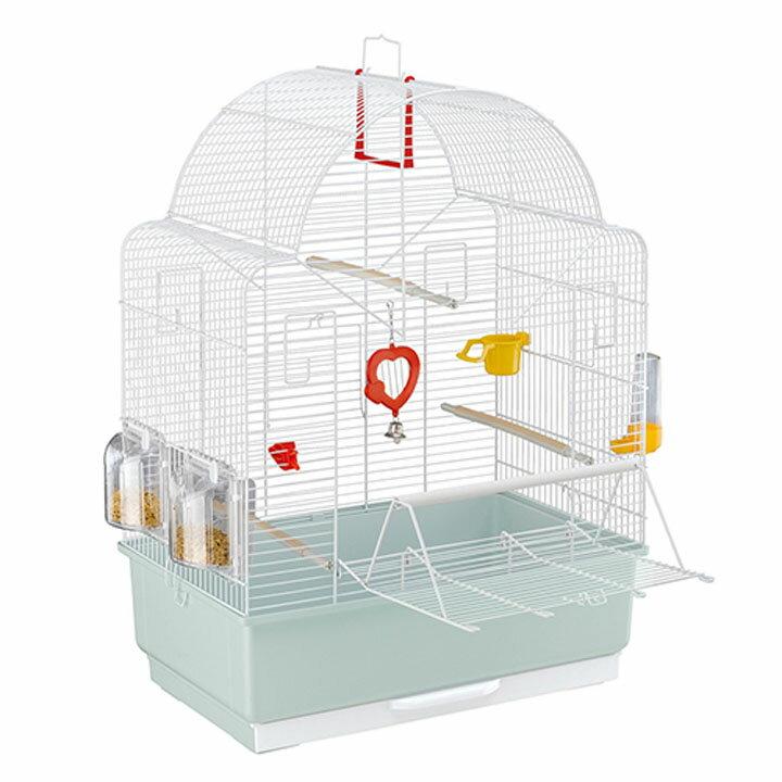 送料無料 ペット 小動物 イビザ オープン 鳥 ケージ ファンタジーワールド 52021811ホワイト[TP] キャットランド【TC】 猫の日