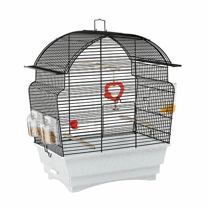 送料無料 ペット 小動物 ロザ 鳥 ケージ ファンタジーワールド 52015817ブラック[TP] キャットランド【TC】 猫の日