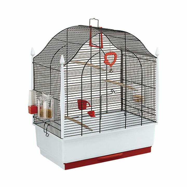 送料無料 ペット 小動物 ウ゛ィラ 鳥 ケージ ファンタジーワールド 52018817ブラック[TP] キャットランド【TC】 猫の日