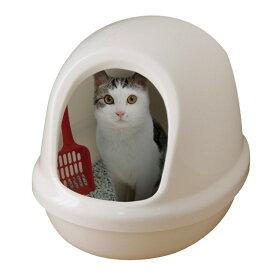 【ポイント3倍!11日1:59迄】猫 トイレ ネコのトイレフルカバー 本体 P-NE-500-F しろくろ三毛 アイリスオーヤマ[ネコ ねこ 用品 ドーム ペットケア トイレ掃除 トイレ交換 ] キャットランド
