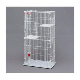 【あす楽】猫 ケージ 2段 スリムキャットケージ PSCC-752 ホワイト 送料無料 ペットケージ キャットゲージ cage スリムタイプ コンパクト 多段 留守番 保護 シンプル アイリスオーヤマ