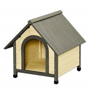 《わんにゃんday200円OFFクーポン!》犬 犬舎 ペット ウッディ犬舎 WDK-750 (体高約50cmまで) 送料無料 中型犬用 犬小屋 ハウス 犬舎 屋外 室外 野外 木製 ペット用品 アイリスオーヤマ キャットラ