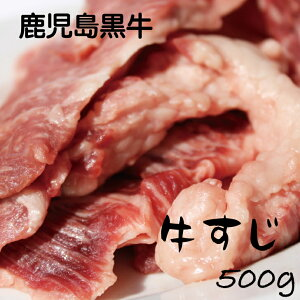 鹿児島黒牛 生 冷凍 すじ肉 牛スジ 500g 冷凍