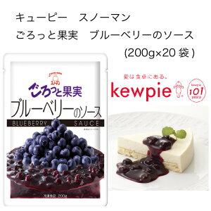 【送料無料】【大容量】【業務用】キューピー スノーマン ごろっと果実 ブルーベリーのソース (200g×20袋)
