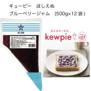 【送料無料】【大容量】【業務用】キューピー ほしえぬ ブルーベリージャム (500g×12袋)